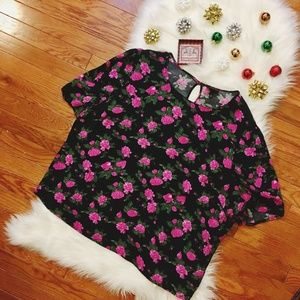 Who What Wear Floral Rose Blouse 2X